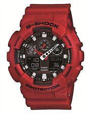 CASIO G-SHOCK GA-100B-4AJF Men's Watch Red