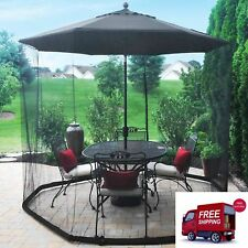 Parasol Mosquito Net Garden Shade Insect Protection Gazebo Side Mesh Screen New