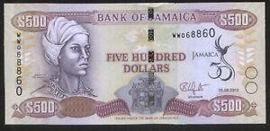 Jamaika 500 Dollars 2012 Pick 91 UNC Series ZA