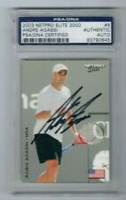 2003 NETPRO Elite ANDRE AGASSI SIGNED HOF -PSA/DNA CERTIFIED Authentic AUTO-