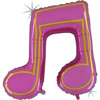 """Betallic Music Note Double Pink Holographic Balloon- 40"""""""