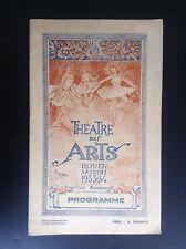 Ancien Programme theatre Des Arts de Rouen 1933