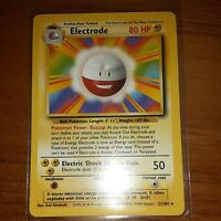 Electrode Base Set Card 21 WOTC 1999 Near Mint Never Played Ships FREE In U.S.A.