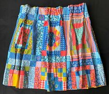 Vintage Pinch Pleat Curtains Patchwork Style Country RV Camper Blue Pink Yellow