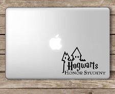 Harry Potter Hogwarts Honor Student sticker for all laptops. Black decal