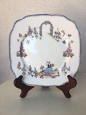 "Vintage Dainty Dinah Plate 8.5"" Royal Albert Blue Trim"
