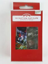 20 PC MINI LIGHT SUCTION CLIPS hold regular & led lights on flat clean surface
