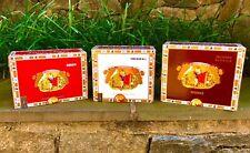 Romeo y Julieta Empty Cigar Boxes - Set of 3, Different Colors!