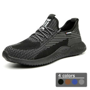 Mens Safety Trainers Steel Toe Cap Work Boots Women Lightweight Safety Shoes UK
