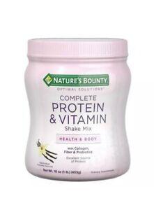 Protein Powder Vitamin C Collagen Fiber & Probiotic Vanilla Flavor 16Oz SEALED
