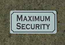 MAXIMUM SECURITY Metal Sign 4 Costume Cosplay Clubware S&M Prop TV Movie Staging