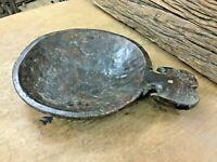 Old Vintage Rare Unique Round Shape Indian Wooden Pot/Parat. Multi Purpose Use