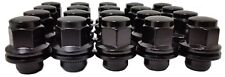 24 Pc BLACK 4 RUNNER FACTORY TYPE SOLID LUG NUTS Part # AP-5307BK