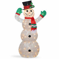 National Tree 48 Inch Crystal Snowman with 70 Clear Mini Lights (DF-070114C)