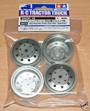Tamiya 56518 Metal-Plateado Ruedas Traseras (ancho 22mm/Acabado Mate) (Scania/Man)