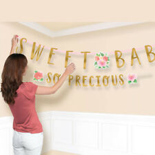 Baby Shower Sweet Floral Jumbo Letter Banner Kit ~ Party Supplies Decoration
