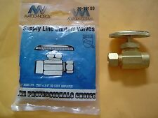 """1/2"""" Nominal Sweat Inlet x 3/8"""" OD Compression Outlet Multi-Turn Straight Valve"""