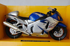 SUZUKI  HAYABUSA  GSX1300R  1/12th  MODEL  MOTORCYCLE  BLUE