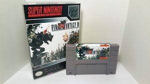 Final Fantasy VI 6 - English SNES Translation NTSC - Gray Cartridge FF