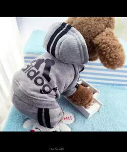 Adidog  Dog Coat / Hoodie  Med Uk Seller Fast Delivery