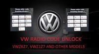 FAST SERVICE! RNS510 radio unlok code VW Radio Unlock Decode VWZ6Z7, VWZ1Z7