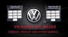 RNS510 MFD VW Radio code Unlock Decode Service VWZ6Z7, VWZ1Z7 RNS510 Unlock PIN