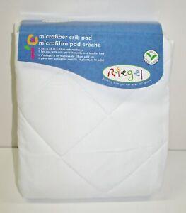 Riegel Microfiber Fitted Crib Pad 28x52 Mattress ~ White ~ Contaminant FREE NEW