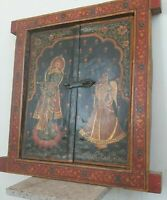 Wall old frame wooden carved window antique hanging 2 doors jharokha home decor