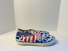 f500ebd6ea Rare American Eagle Outfitters Red White Blue Canvas Lace Up Sneakers Men s  10