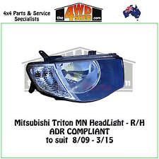HEADLIGHT fit MITSUBISHI TRITON MN R/H RIGHT DRIVER SIDE 2009-2015 ADR COMPLIANT