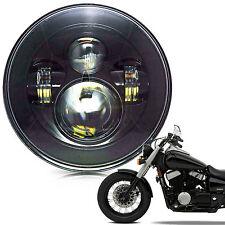 """7"""" Crystal Headlight LED Projector Fit Honda Shadow VT VT1100 VT750 VT600 VF750"""