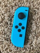Genuine Nintendo Switch LEFT Side Neon BLUE Joy Con Controller Only! Tested!