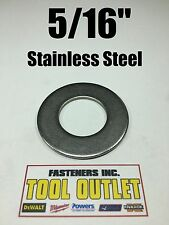 "(100) 5/16"" Stainless Steel Flat Washers (18-8 Stainless) 3/4"" OD / .050 Thick"