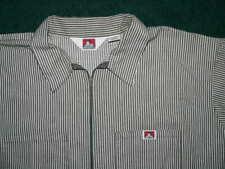 New listing Vtg 80s Ben Davis Work Shirt Black & White Stripes Size 2Xl Xxl Usa Made