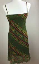 Bonkers Womens Floral Spagetti Straps Sundress Multicoloe Size Small