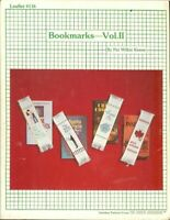 BOOKMARKS VOL.ll   - CROSS STITCH BOOKMARK LEAFLET  #116
