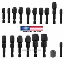 "Snappy 1/32 to 3/8"" Collet Drill Bit Adapter Set 1/4 Hex Quick Change Impact USA"
