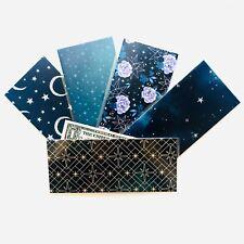 Laminated Cash Envelope Handmade DAVE RAMSEY Budget System Celestial Foil Stars