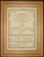 40th 50th Different Personalised Birthday Scroll Gift