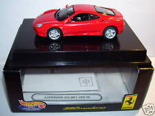 superbe HOT WHEELS FERRARI 360 MODENA ROUGE BOX 1/43