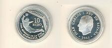 Spanien 10 Euro 2003 Fußball-WM in Deutschland Silber PP (M00418)