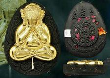 Genuine Holy Phra Pidta Nasetthi Gold Mask LP Kruba-NA Thai Buddha Amulet Lucky