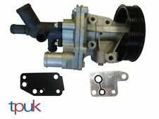 WATER PUMP TXII DEFENDER FORD TRANSIT 2000-14 MK6 MK7 2.4 & CONNECTOR & 2 GASKET