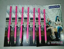 STAEDTLER Bleistift WOPEX neon, Härtegrad: HB, neon-pink (57802495) 7 Stück