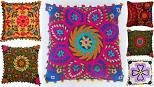 "Uzbek Suzani Pillow Case 16"" Embroidered Cushion Cover Wholesale Lot 5 Pecs 1254"