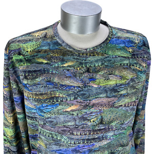 Reel Legends Men's Freeline Alligator Fishing Shirt Long Sleeve Quick Dry Size S