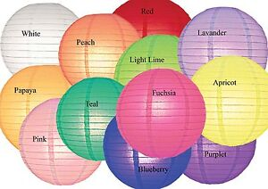 Paper Lantern 12inch Regular(Wire Frame) Shade -13 Colours Available