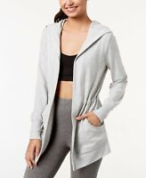 Womens Athleisure HOODED CARDIGAN WRAP Whisper Heather Small IDEOLOGY $49 - NWT