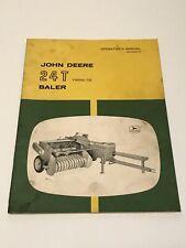 1950's JOHN DEERE TRACTOR 24T TWINE TIE BALER IMPLEMENT OPERATORS MANUAL CATALOG