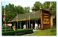 POSTCARD Tommy Bartlett's Deer Ranch Colorful Entrance Silver Springs Florida